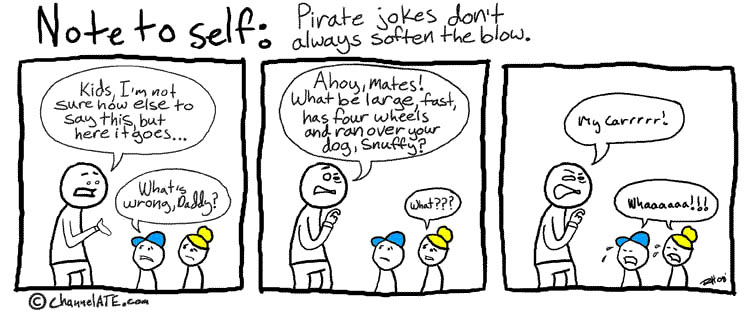Pirate jokes.