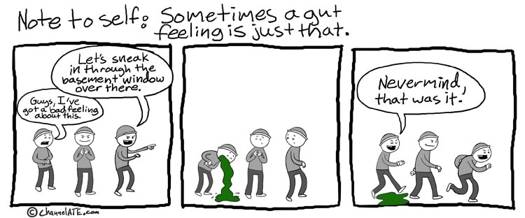 A bad feeling.