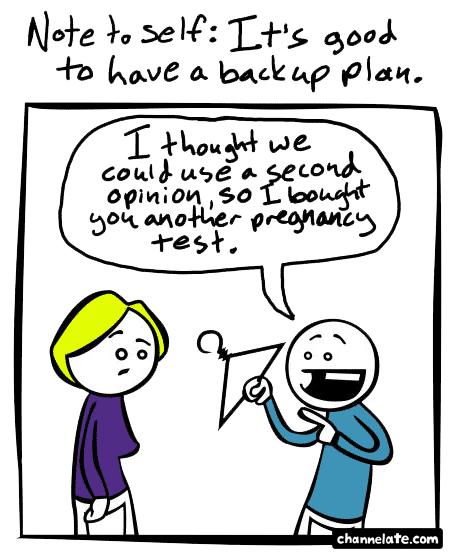Backup plan.
