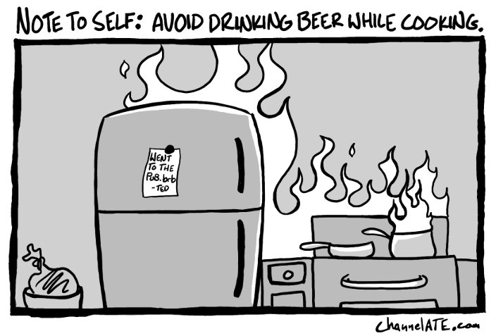 Drinking and cooking.