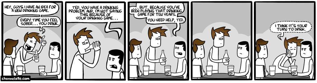 The drinking game.