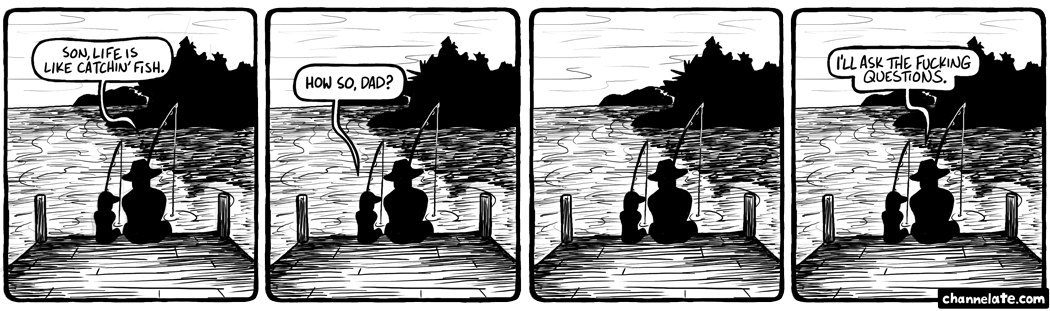 Catchin' fish.