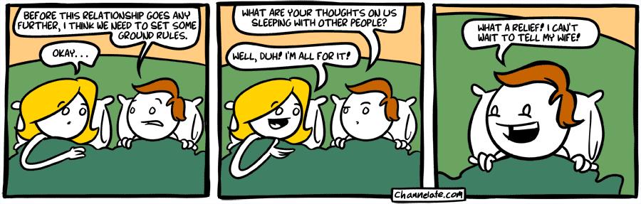 Open relationship.