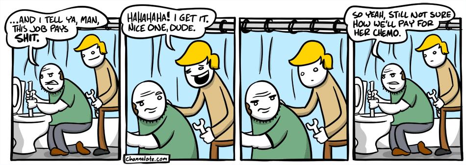 Toilet talk.