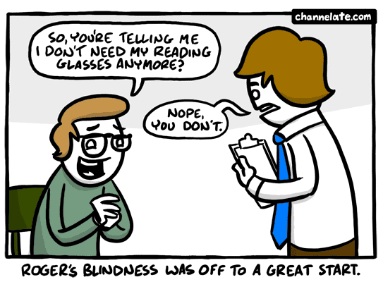 Reading glasses.