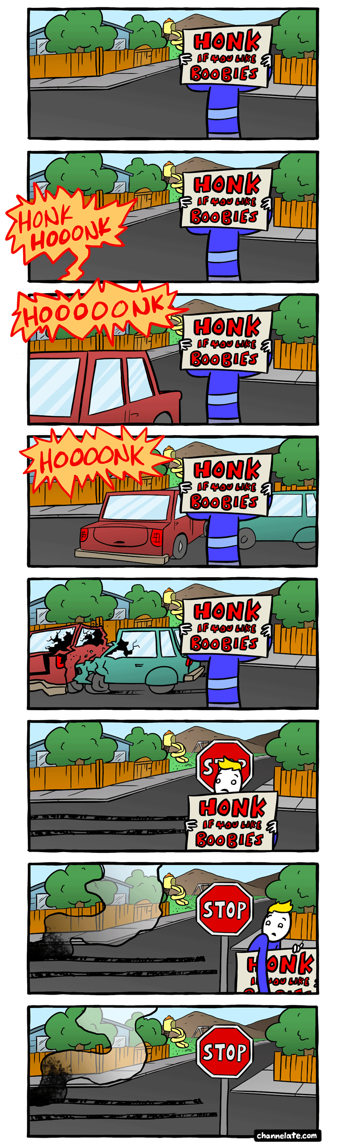 Honk if you like. . .