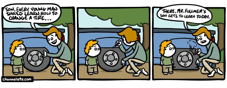 Tire changin'.