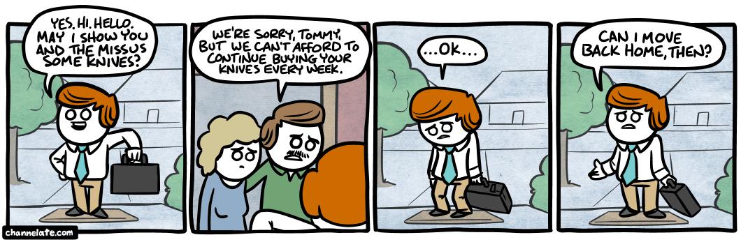 Door to door.