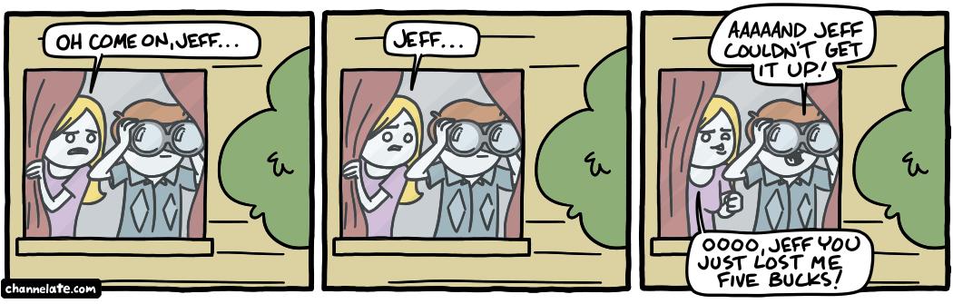 Peeping.