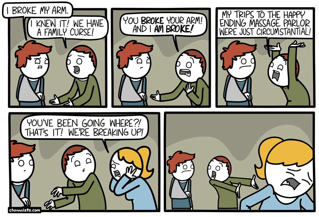 Broke.