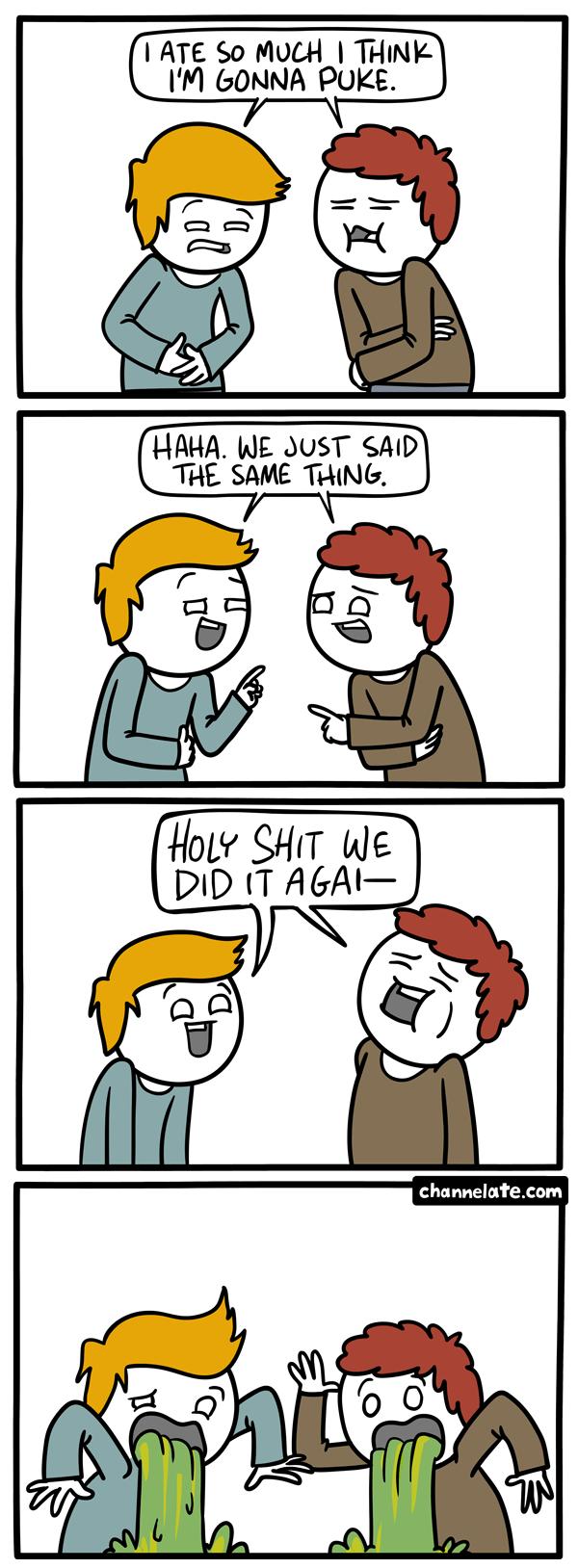 Puke.