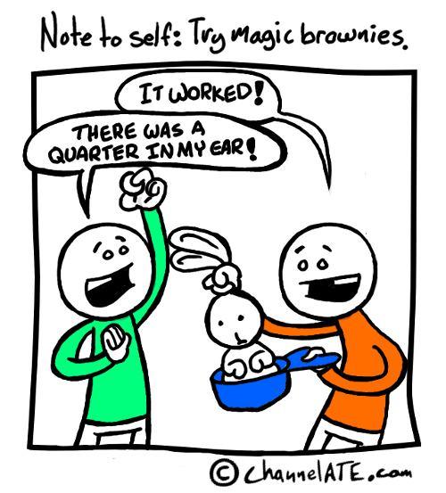 Magic brownies.