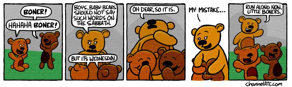 Baby bears.