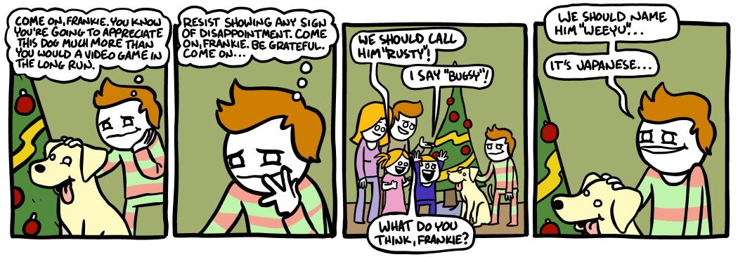 Christmas morning.