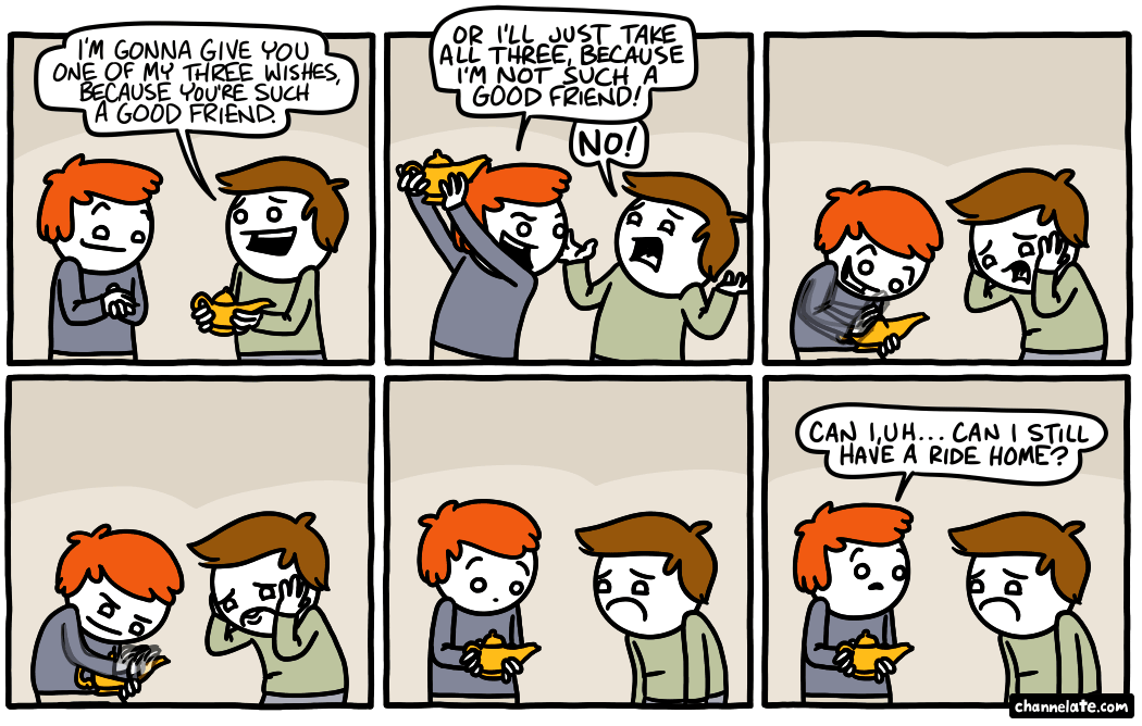 Three wishes.