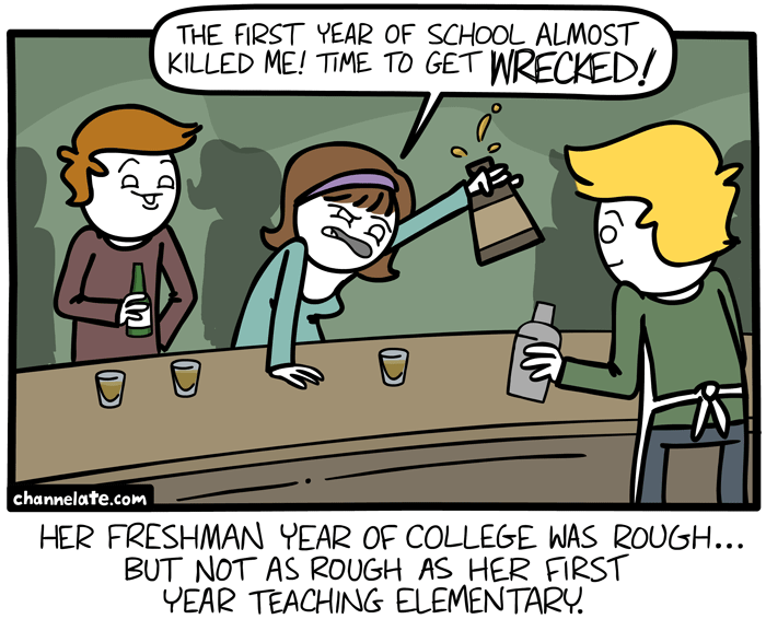 First year of school.