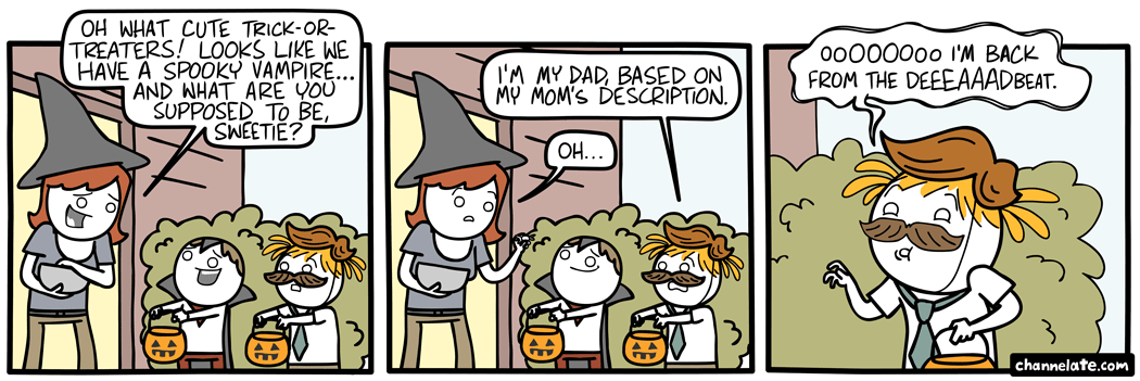 Trick-or-treat.