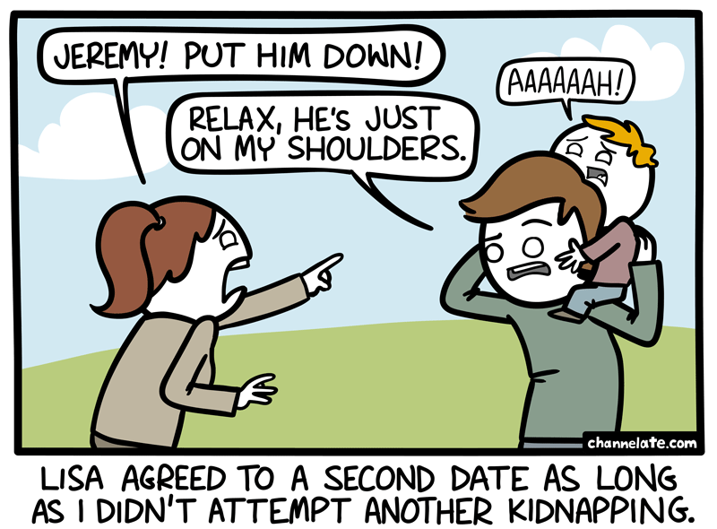 Put him down.