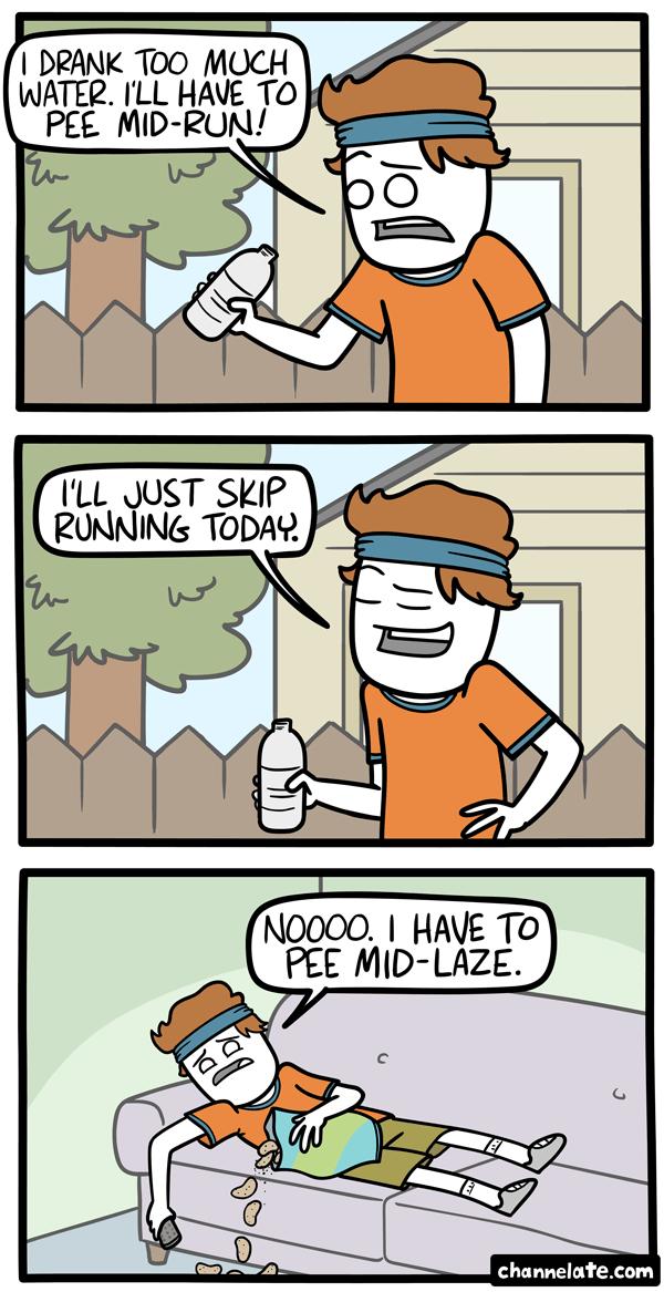 Mid-run.