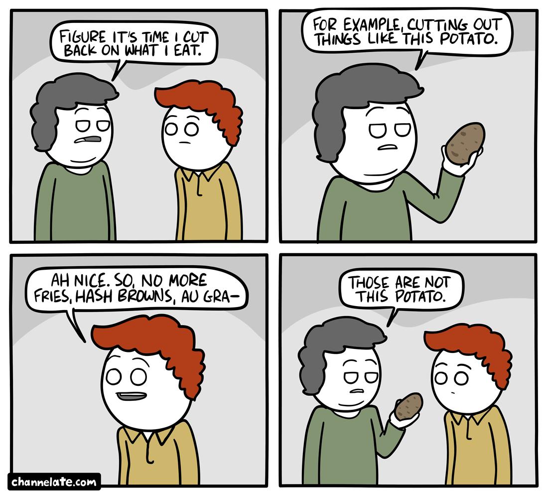 Cut back.