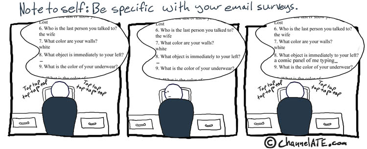 Email surveys.