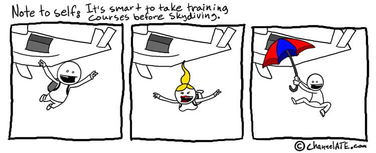 Skydive training.