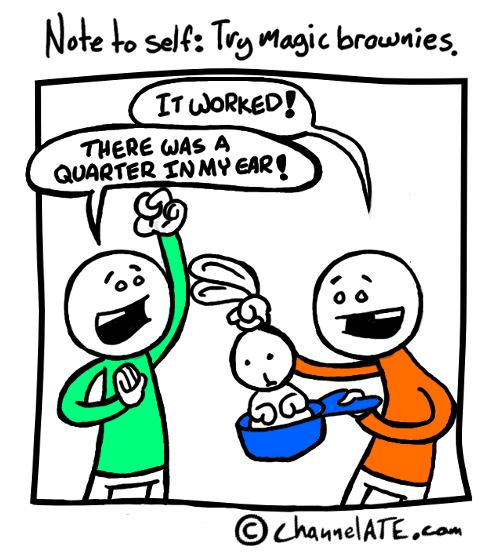 Magic brownies.