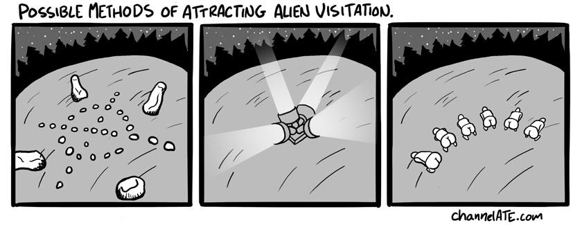 Alien visitation.