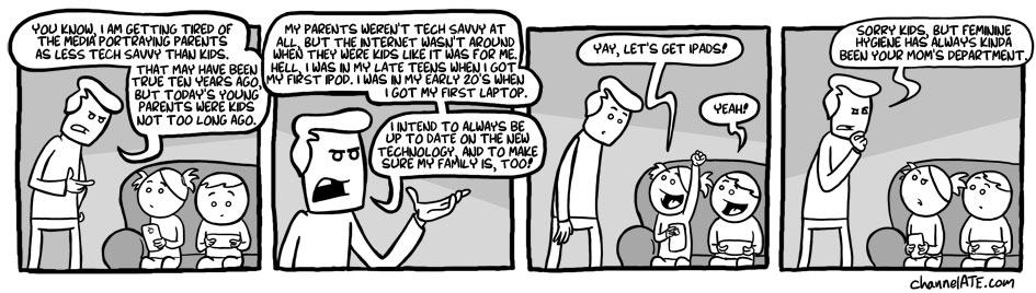 Tech savvy.