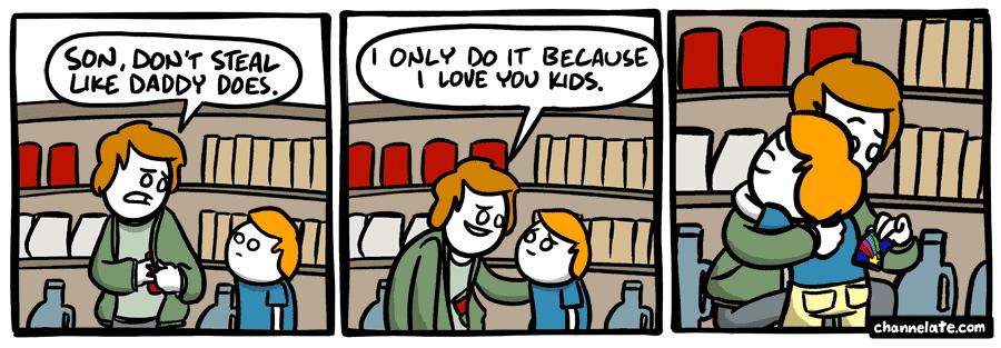 Stealing.