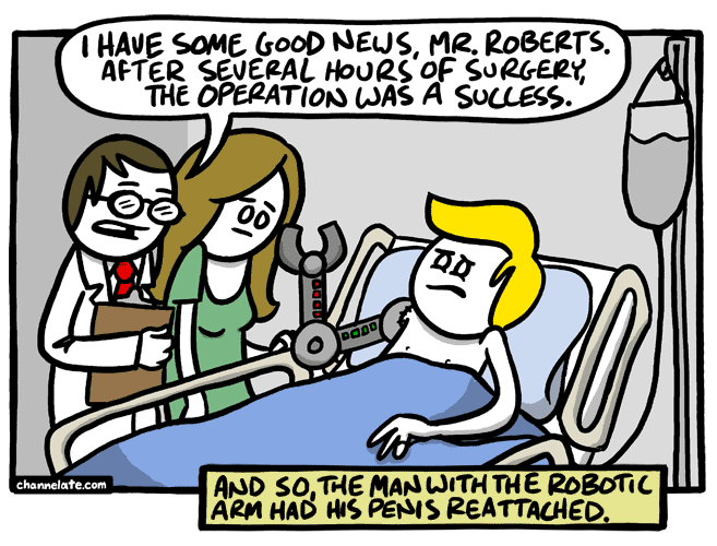 Successful surgery.