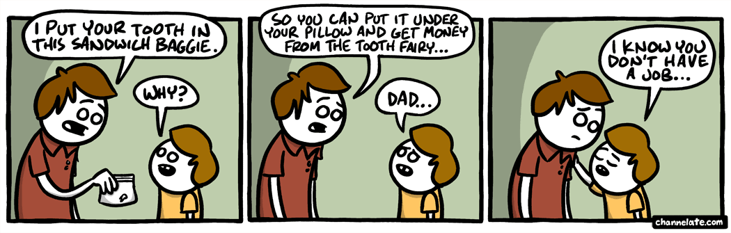 Baby tooth.