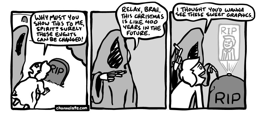 Scrooged.