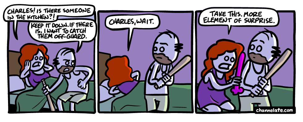 Off-guard.