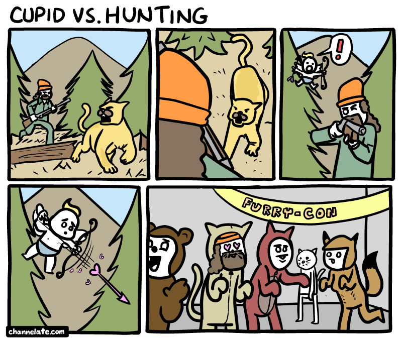 Cupid vs. Hunting.
