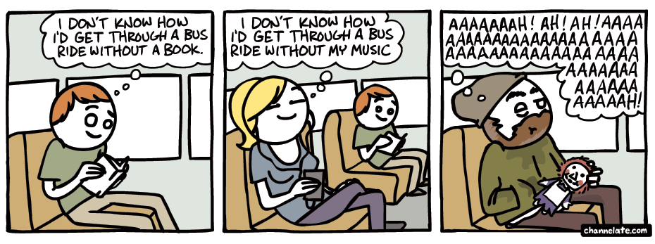 Bus ride.