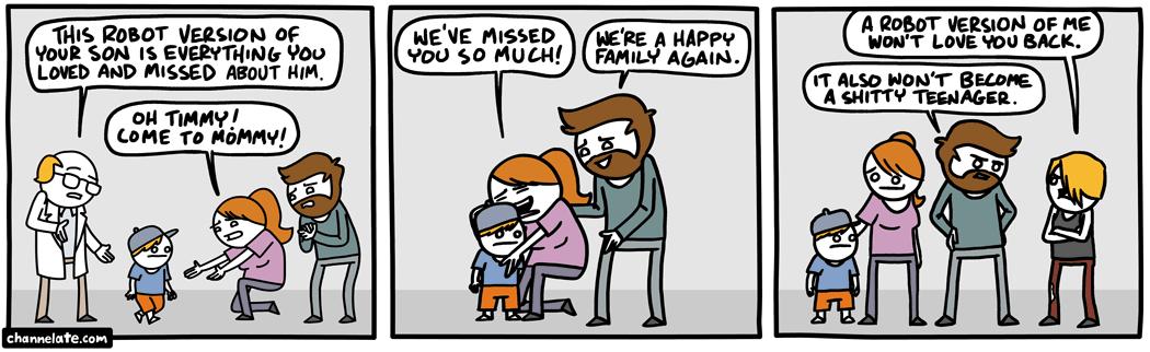Robot son.