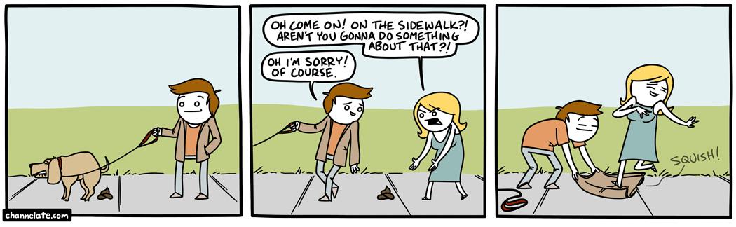 Sidewalk poop.