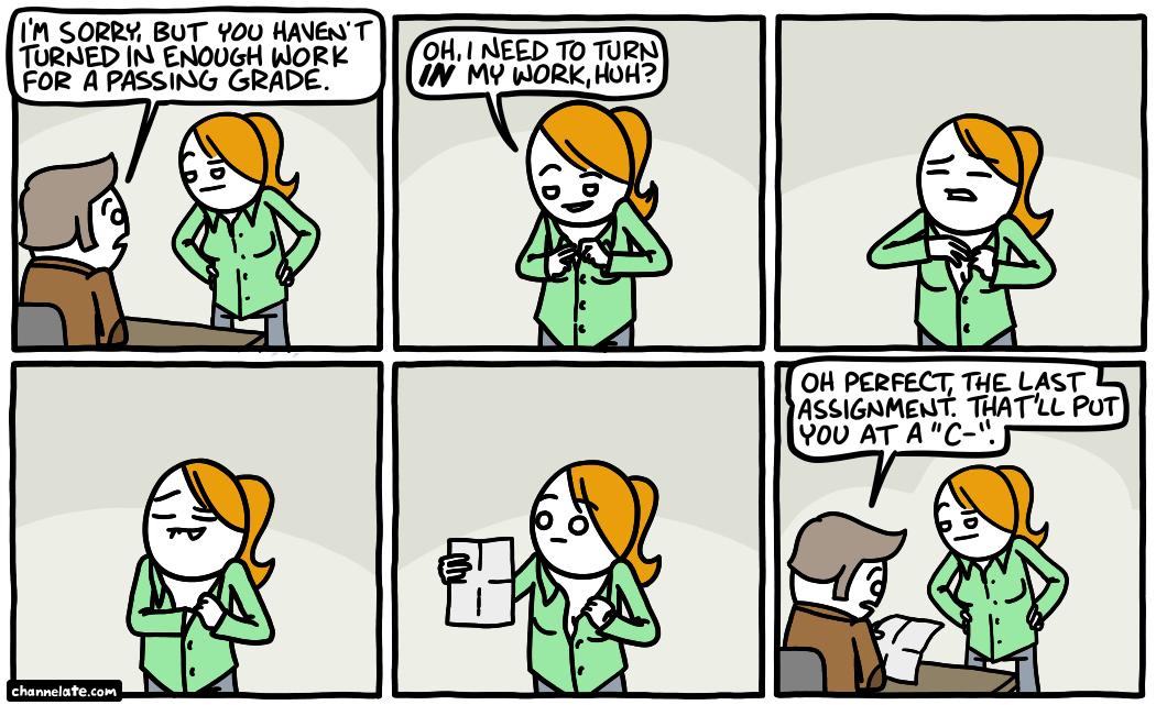 Passing grade.