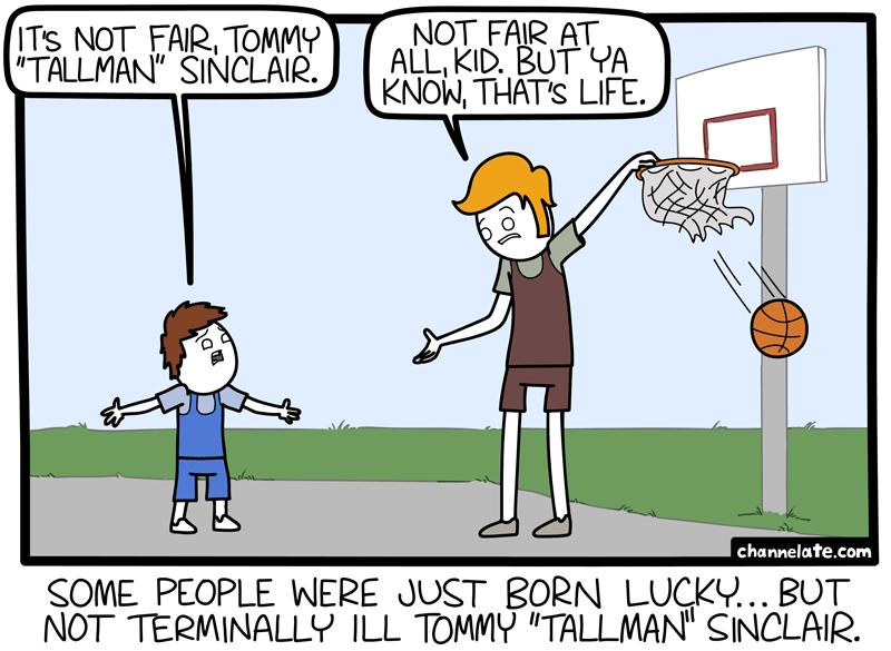 Tall man.