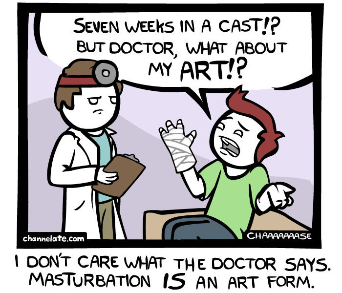 In a Cast.