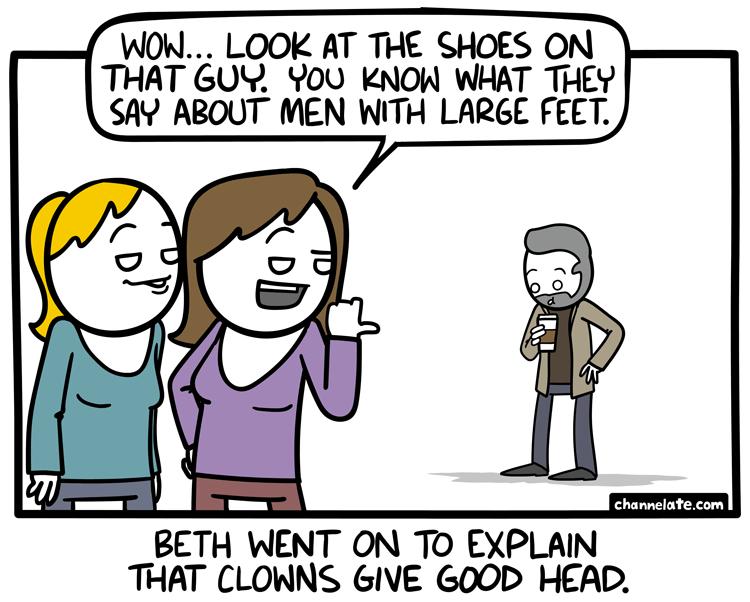Large Feet.