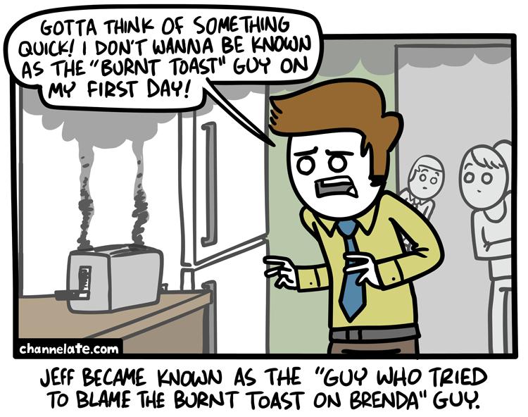 Burnt.