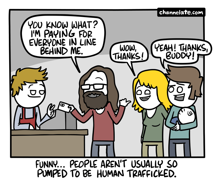 In line.