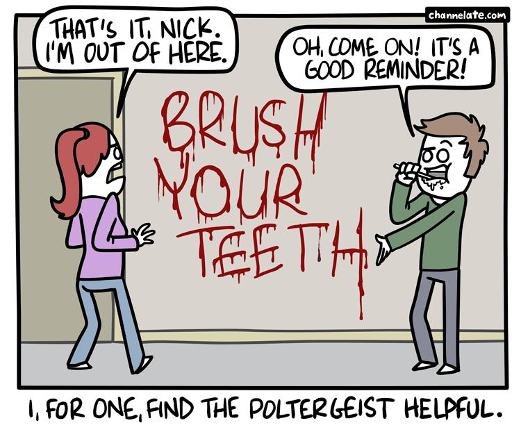Brush 'em.