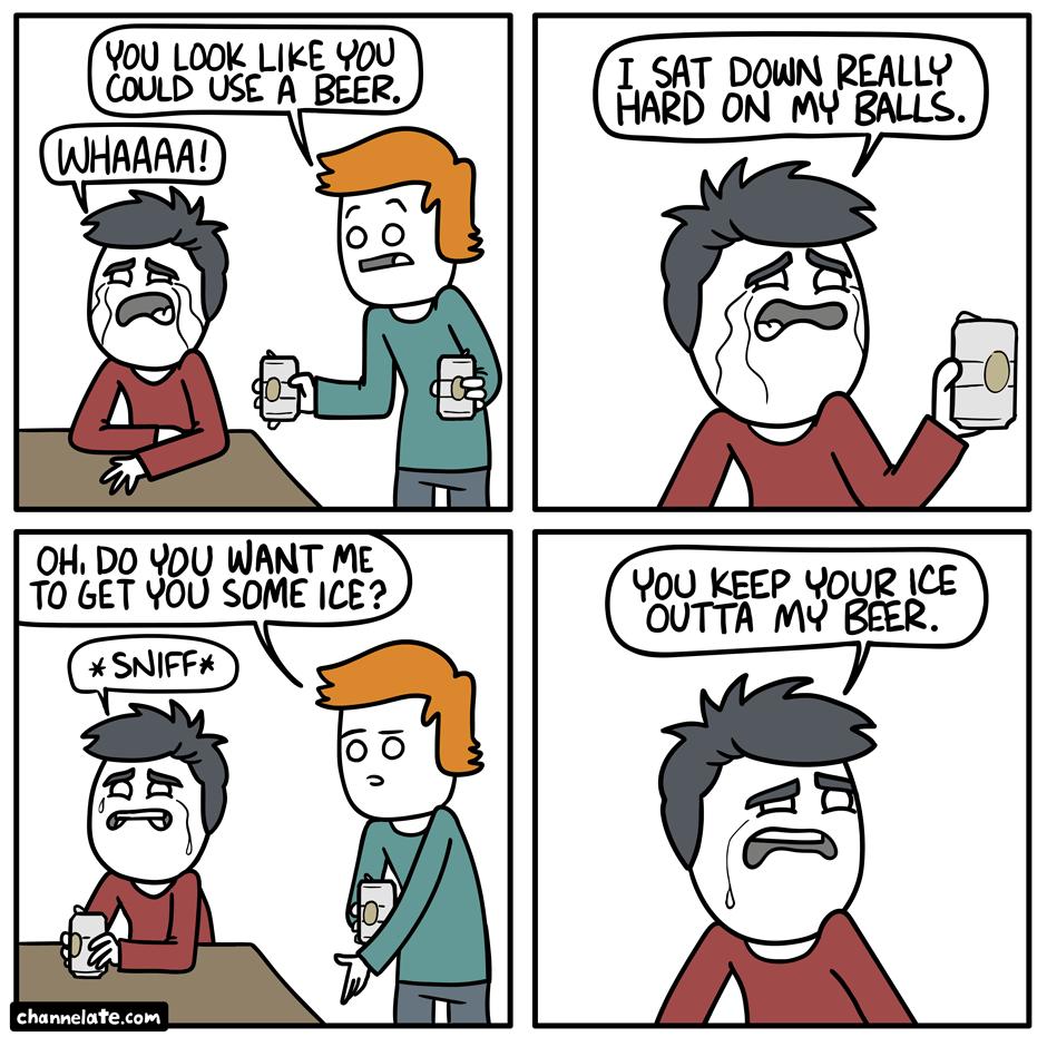 A beer.