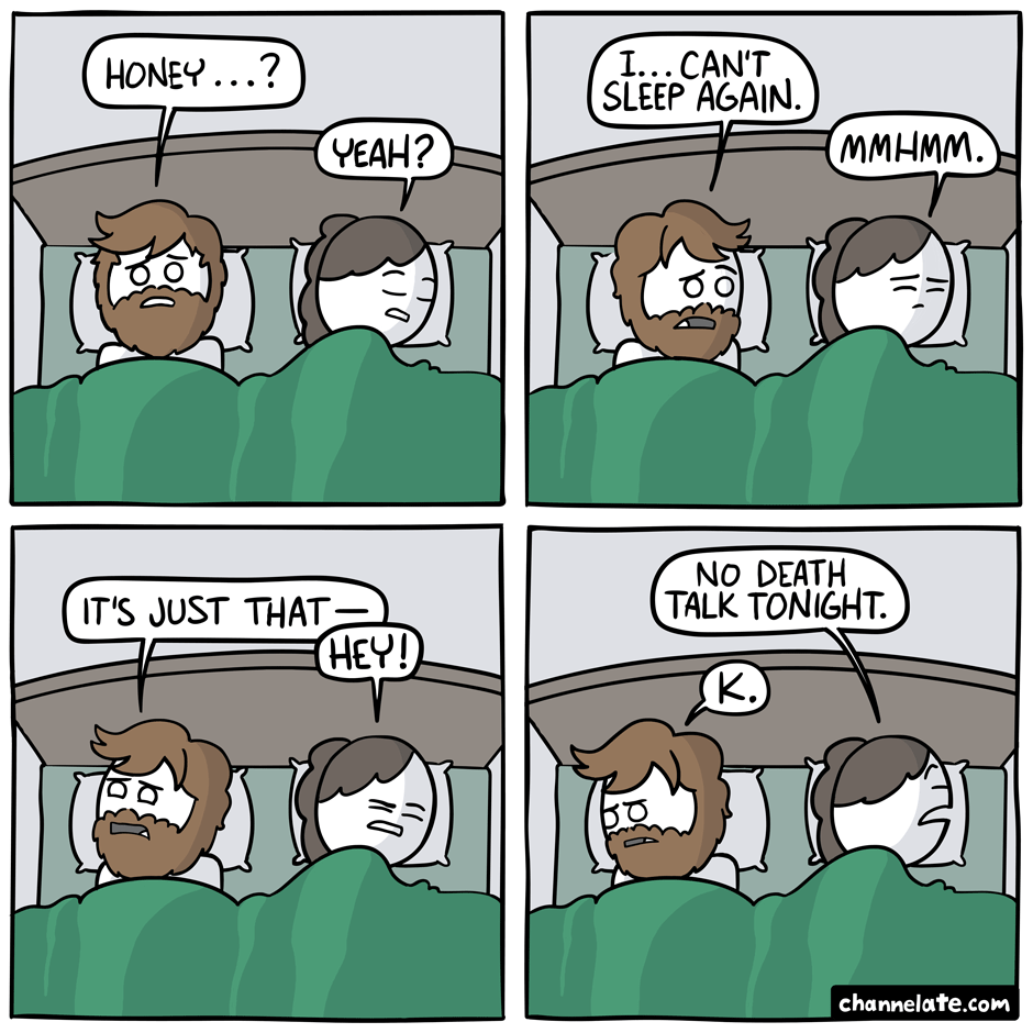 Can't sleep.