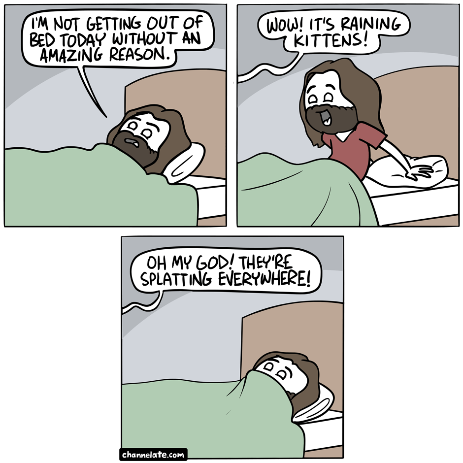 Out of bed